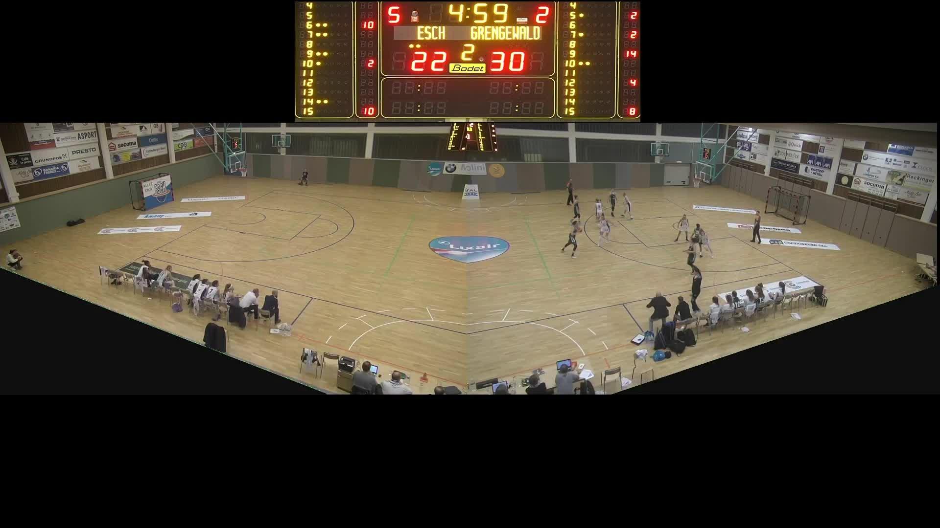Basket Esch ( Dames A ) - Grengewald - 08.02.2020