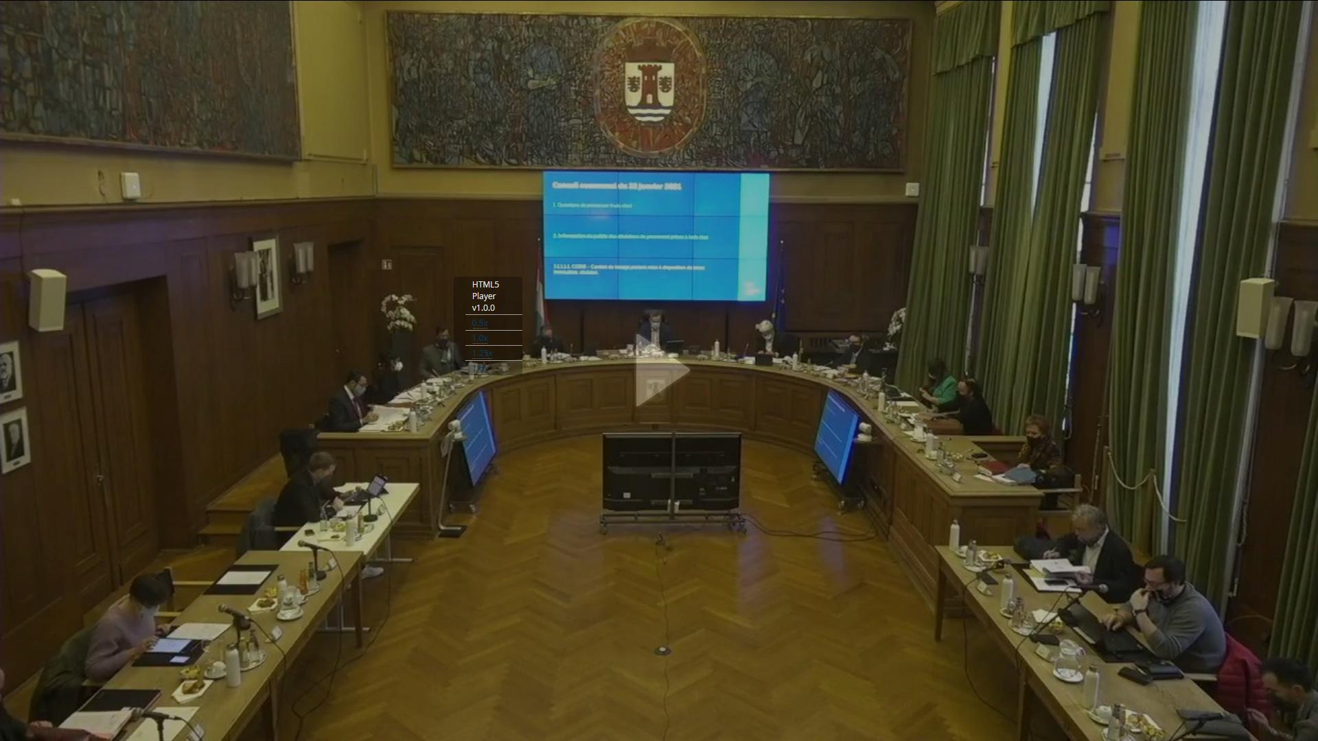 Conseil communal du 22 janvier 2021