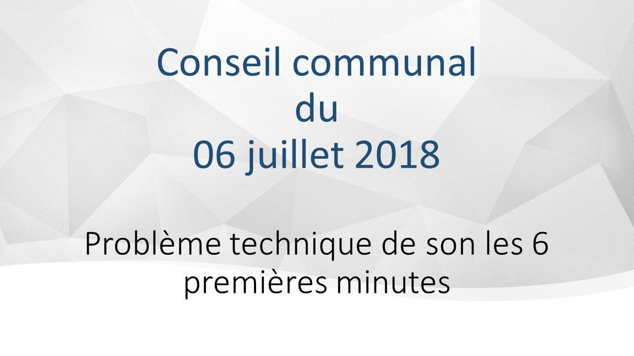 Conseil communal du 6 juillet 2018