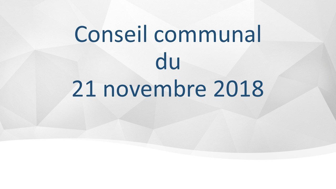 Conseil communal du 21 novembre 2018