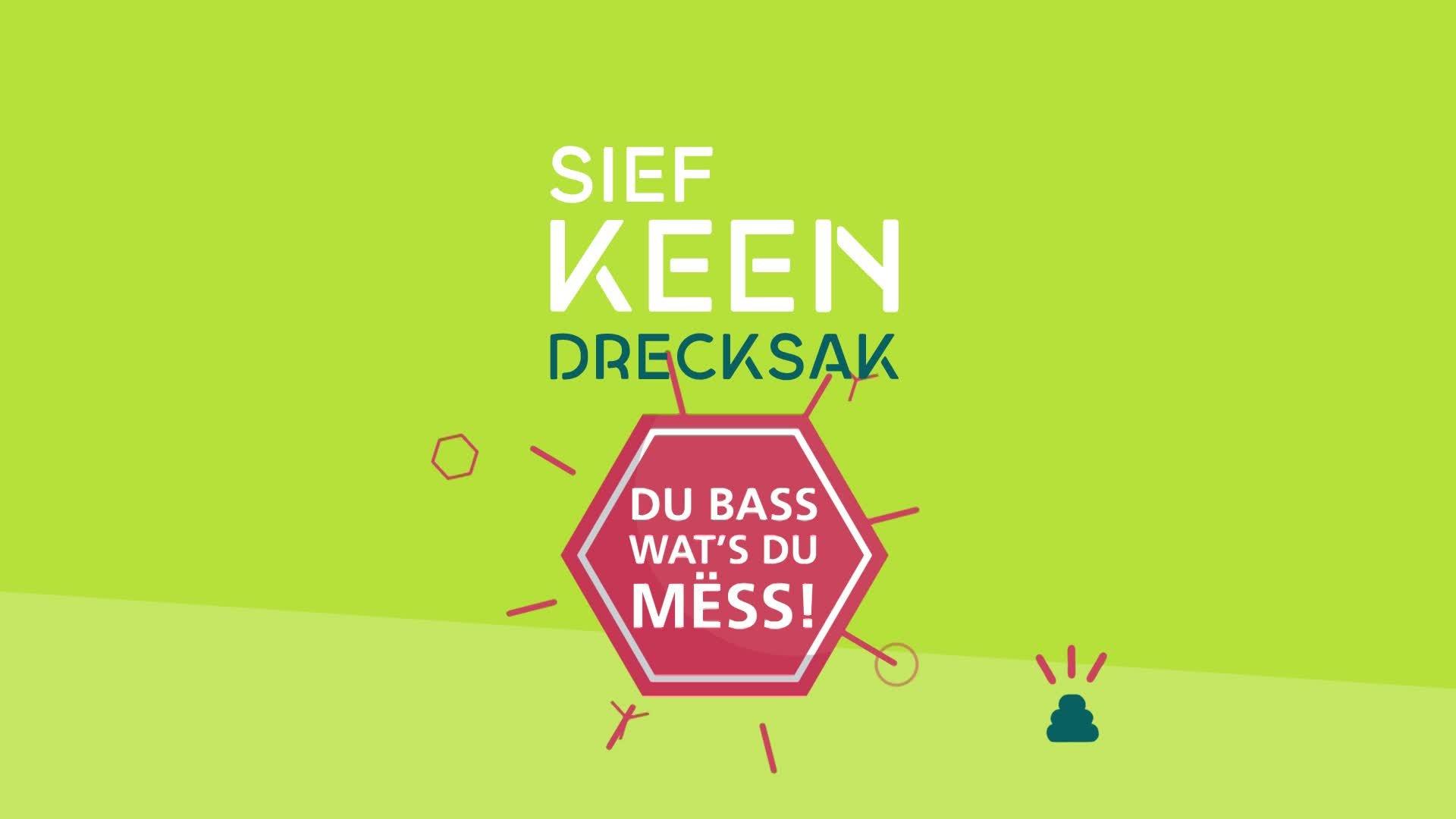 Sief keen Drecksak - Du bass wat's du mëss