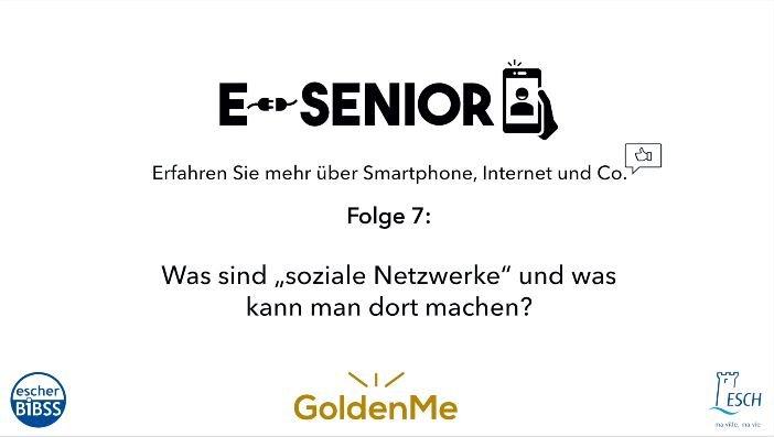 Escher BiBSS – e-Senior – Soziale Netzwerke