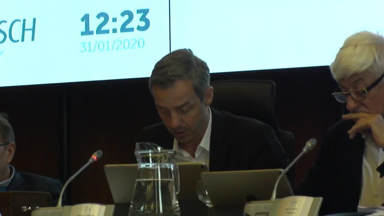 Conseil communal du 31 janvier 2020