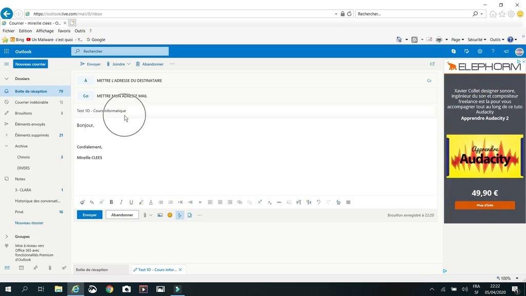 Ajouter une pièce jointe dans Outlook