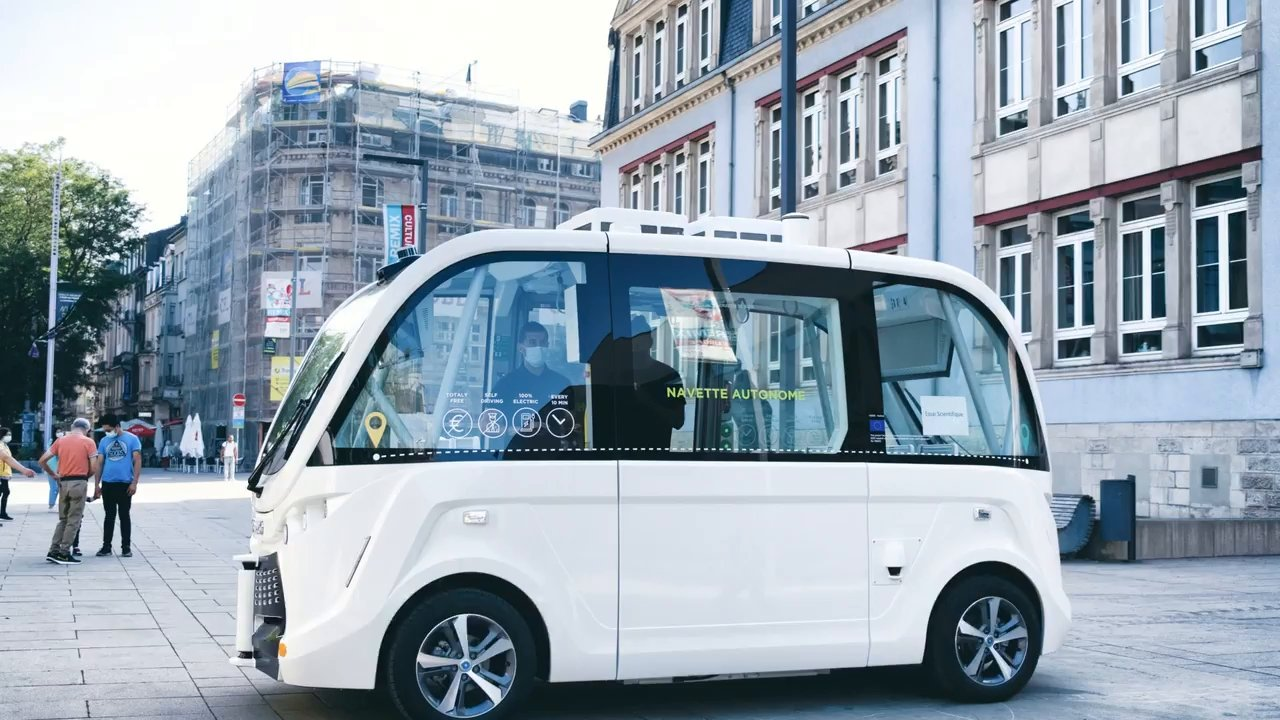 La navette autonome de la rue de l'Alzette