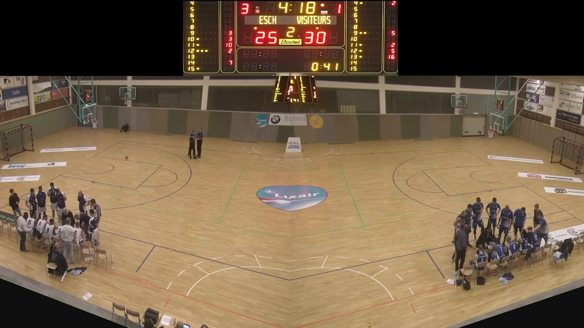 Basket Esch ( Seniors A ) – Etzella – 24.01.2020