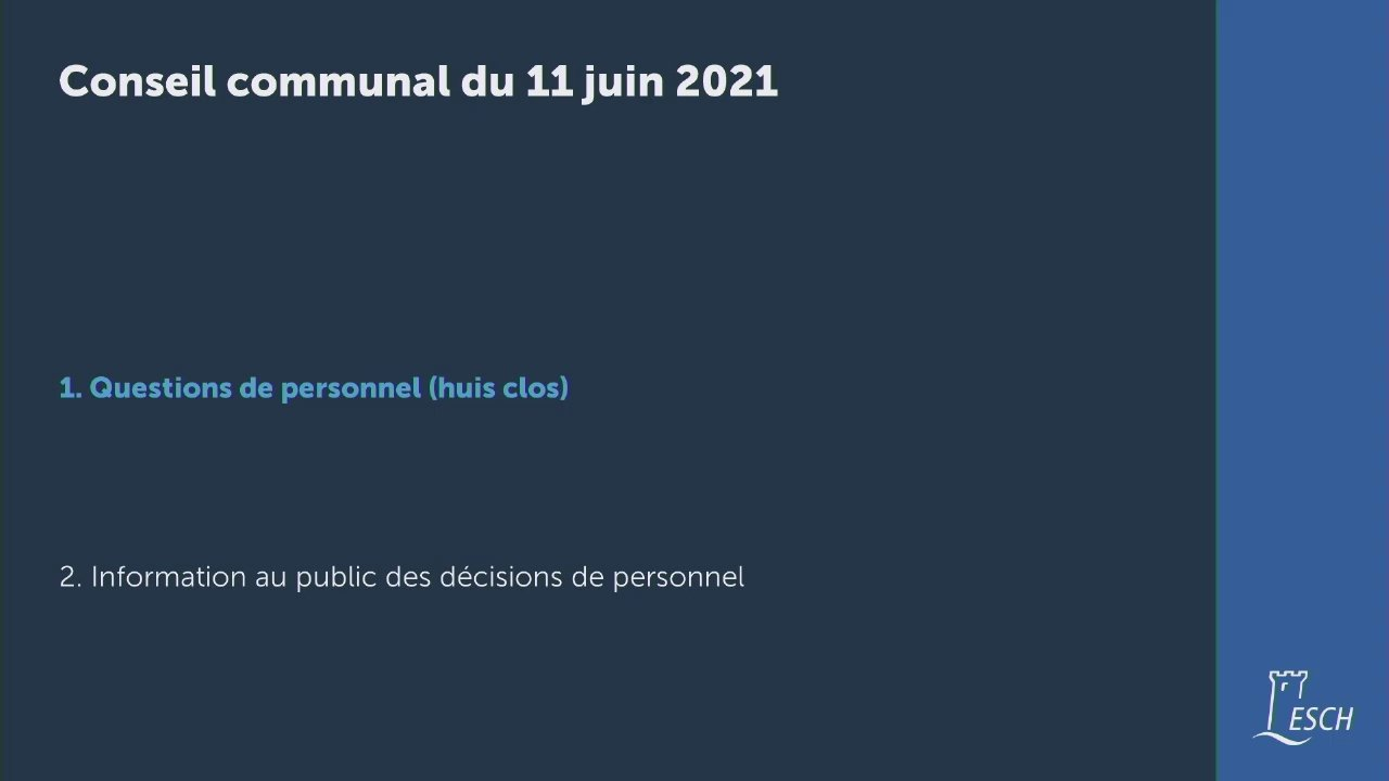 Conseil communal du 11 juin 2021
