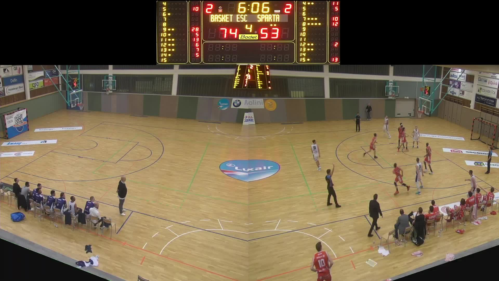 Basket Esch ( Seniors A ) - Sparta - 08.11.2019