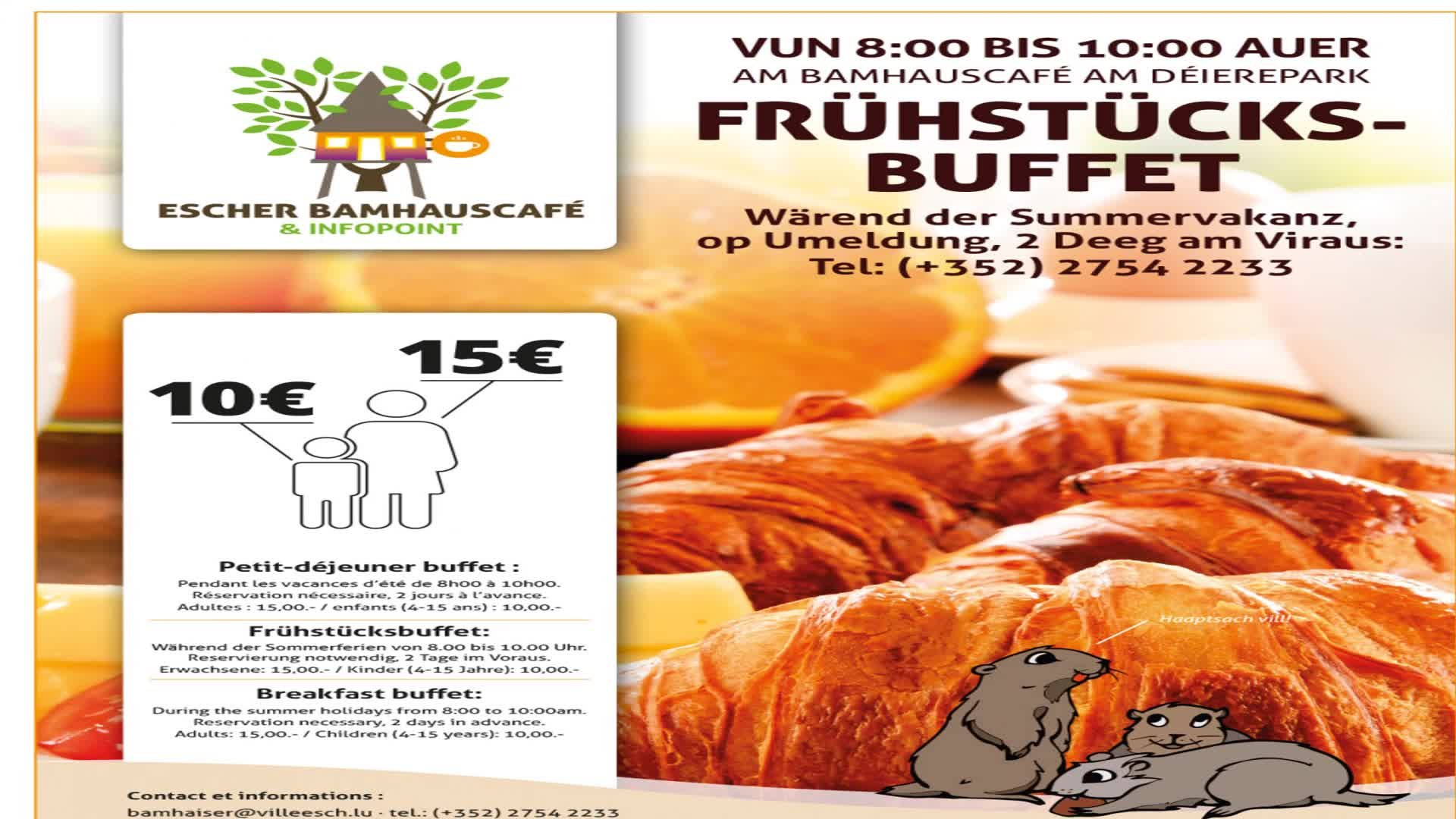 Bamhauscafé am Deierepark - Frühstücksbuffet