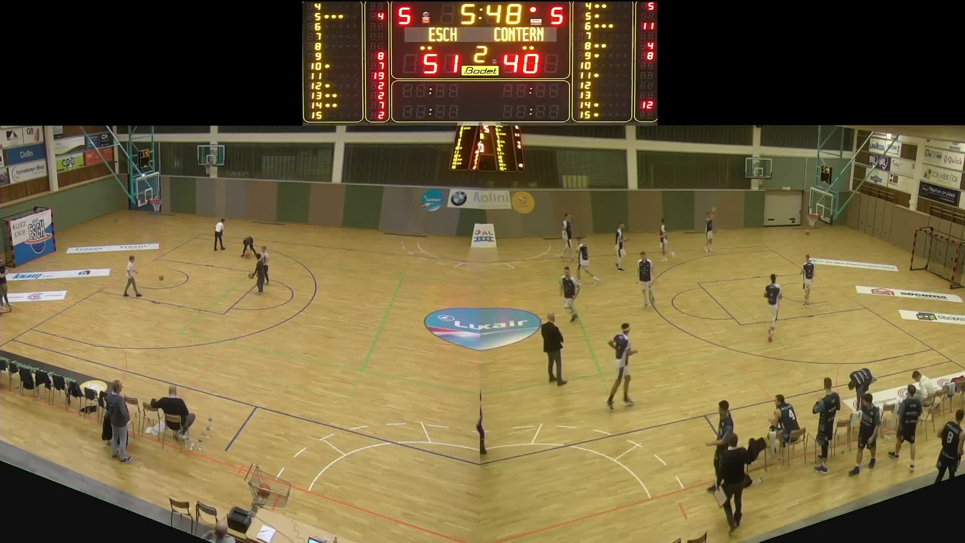 Basket Esch ( Seniors A ) - Contern - 30.11.2019