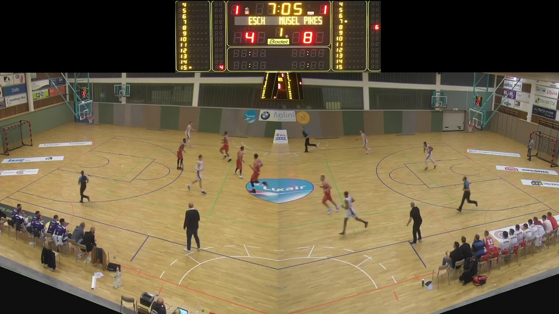 Basket Esch ( Seniors A ) - Musel-Pikes - 19.10.2019