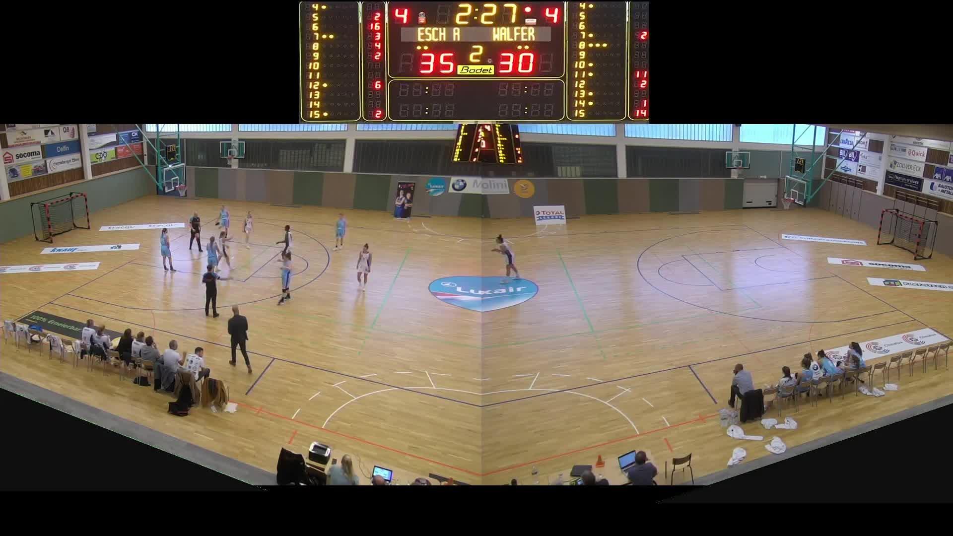 Basket Esch (Dames A) - Walferdange - 06.10.2019