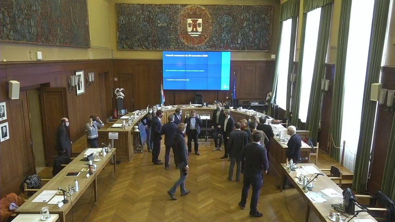 Conseil communal du 20 novembre 2020 (problème de son minute 06:00 à 08:30)