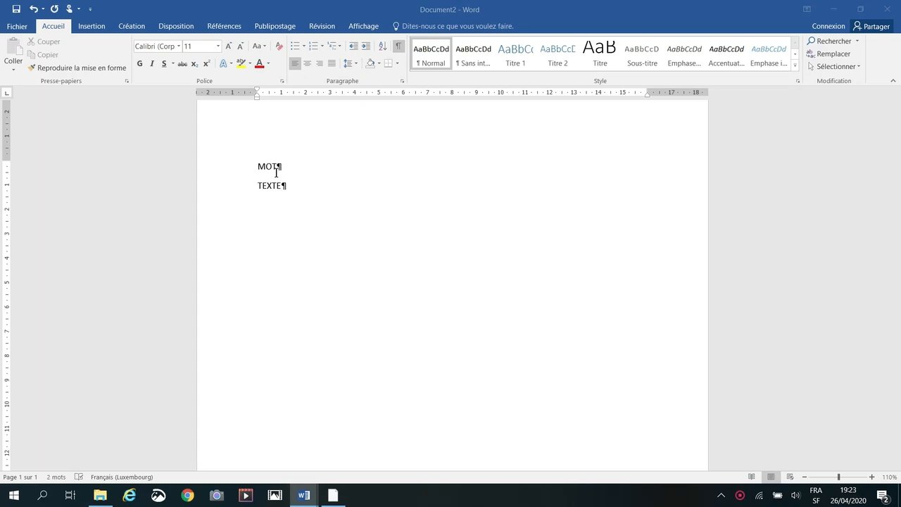 Copier-Coller du contenu